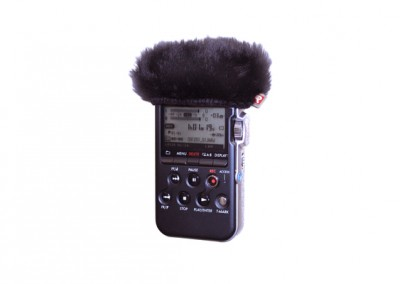 Sony PCM M10 Mini Windjammer In Use (055442)