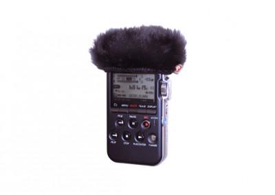 Sony PCM M10 Mini Windjammer In Use (055442)