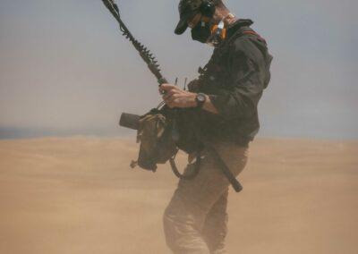 Pete Lee in desert with Nano-Shield